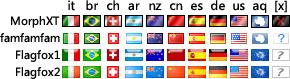 不同版本的地区旗帜