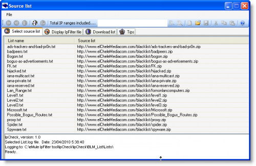 IPcheck下载IP过滤数据