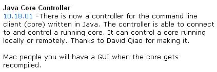 一个叫David Qiao的开发者为电驴制作了Java版本的控制器
