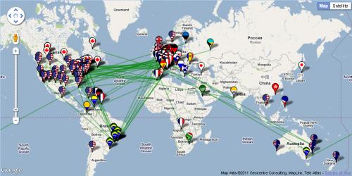 G2网络Hub分布地图